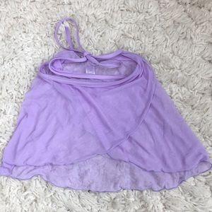 Wear Moi Ballet Lilac Mesh Wrap Skirt